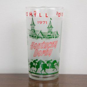 Vintage 1971 Kentucky Derby Drinking Glass